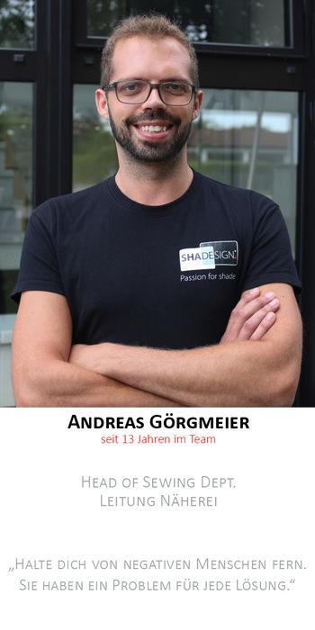 Andreas Görgmeier | Leitung Näherei