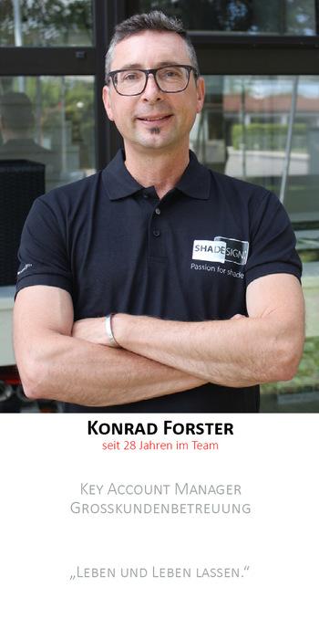 Konrad Forster | Außendienst